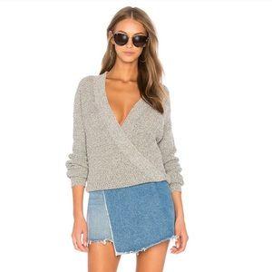 ASTR The Label Stephanie Surplice Wrap Sweater